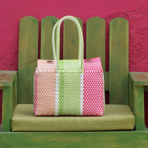 Colorful Handwoven Mexican Basket Bag