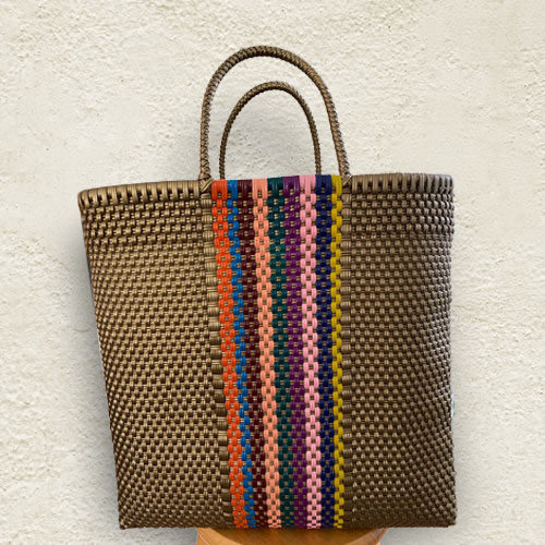 Colorful Handmade Mexican Tote Bag